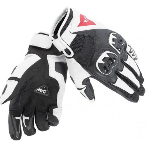 Dainese Handske Mig C2 Svart/Vit/Svart