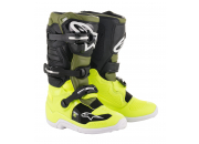 Alpinestars Crosstövel Tech 7S Fluogul/Militärgrön (Junior)