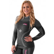 FXR Vapour Seamless Compression 25% Meriono Top Grey