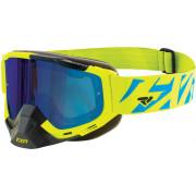 FXR Crossglasögon Boost XPE Fluogul/Blå