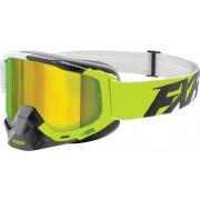 FXR Skoterglasögon Boost XPE Lime/Vit/Svart