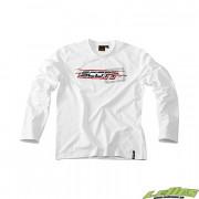 Scott T-Shirt långärmad Logo Vit