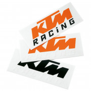 KTM Dekal Orange/Vit (8,4x3,4cm)