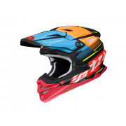Shoei Crosshjälm VFX-WR Zinger Tc-10 Röd/Orange/Blå
