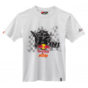 KTM T-Shirt KINI-Red Bull Overspray Vit